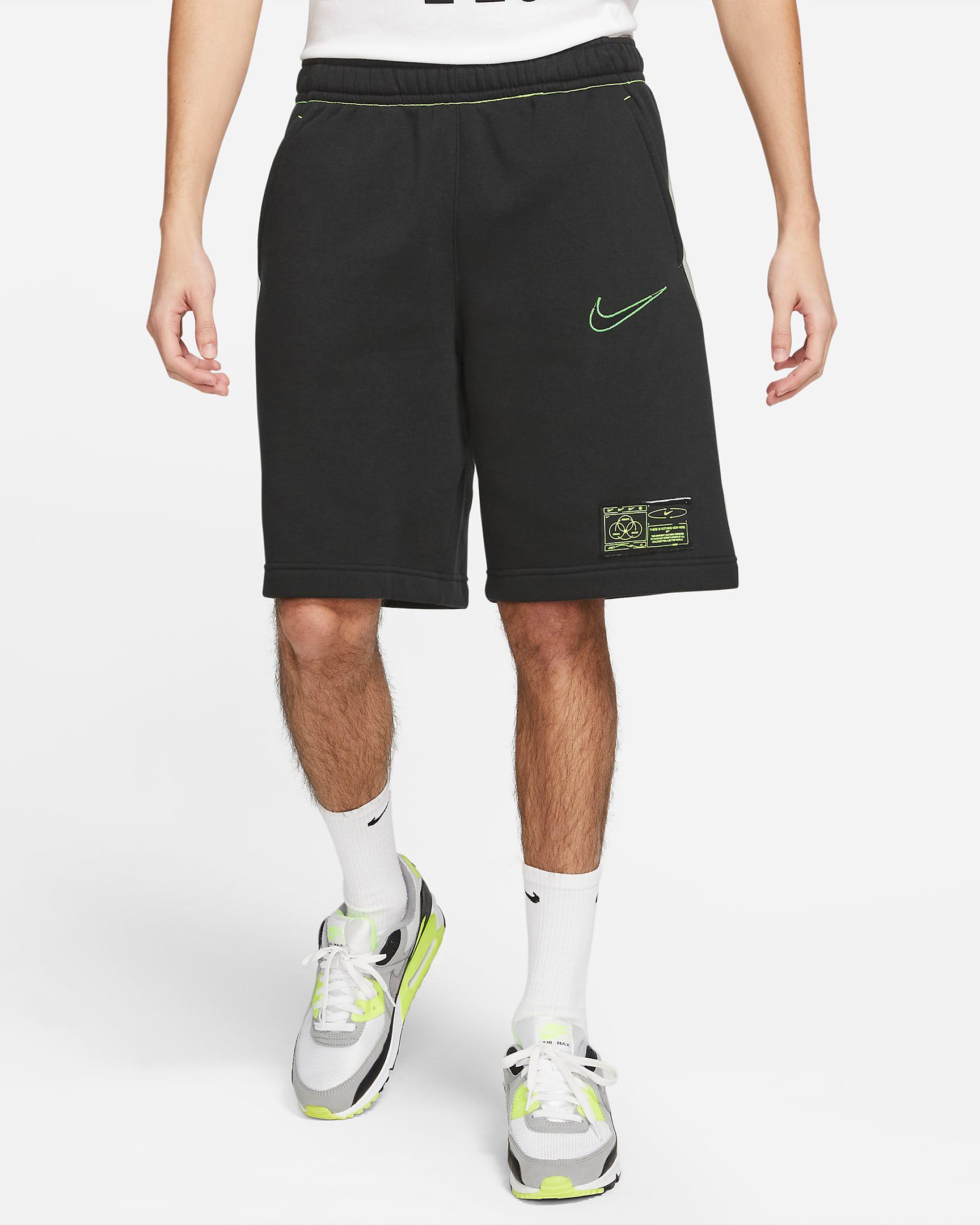 nike-club-fleece-shorts-black-volt-1
