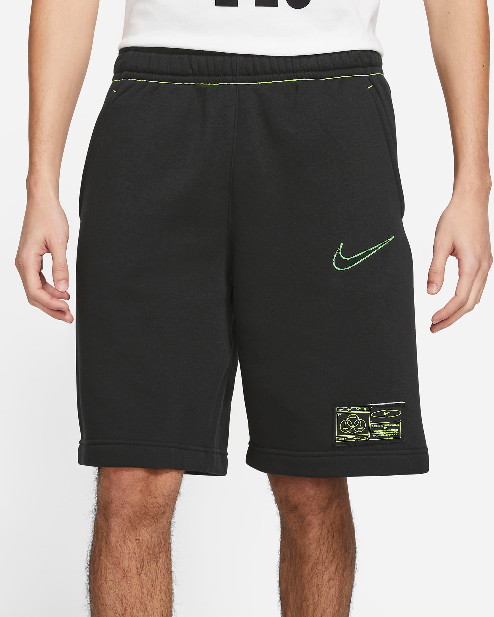 nike-club-fleece-shorts-black-volt-2