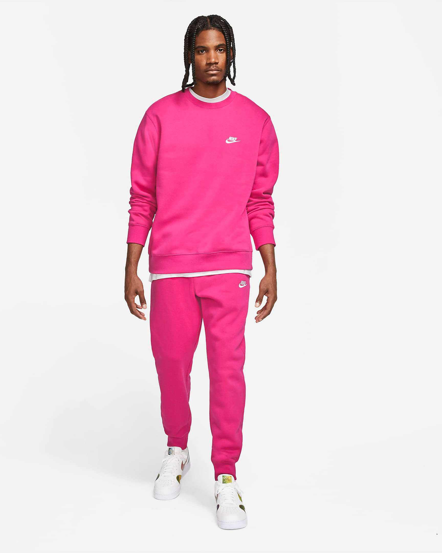 nike-club-fleece-sweatshirt-jogger-pants-fireberry-pink-outfit