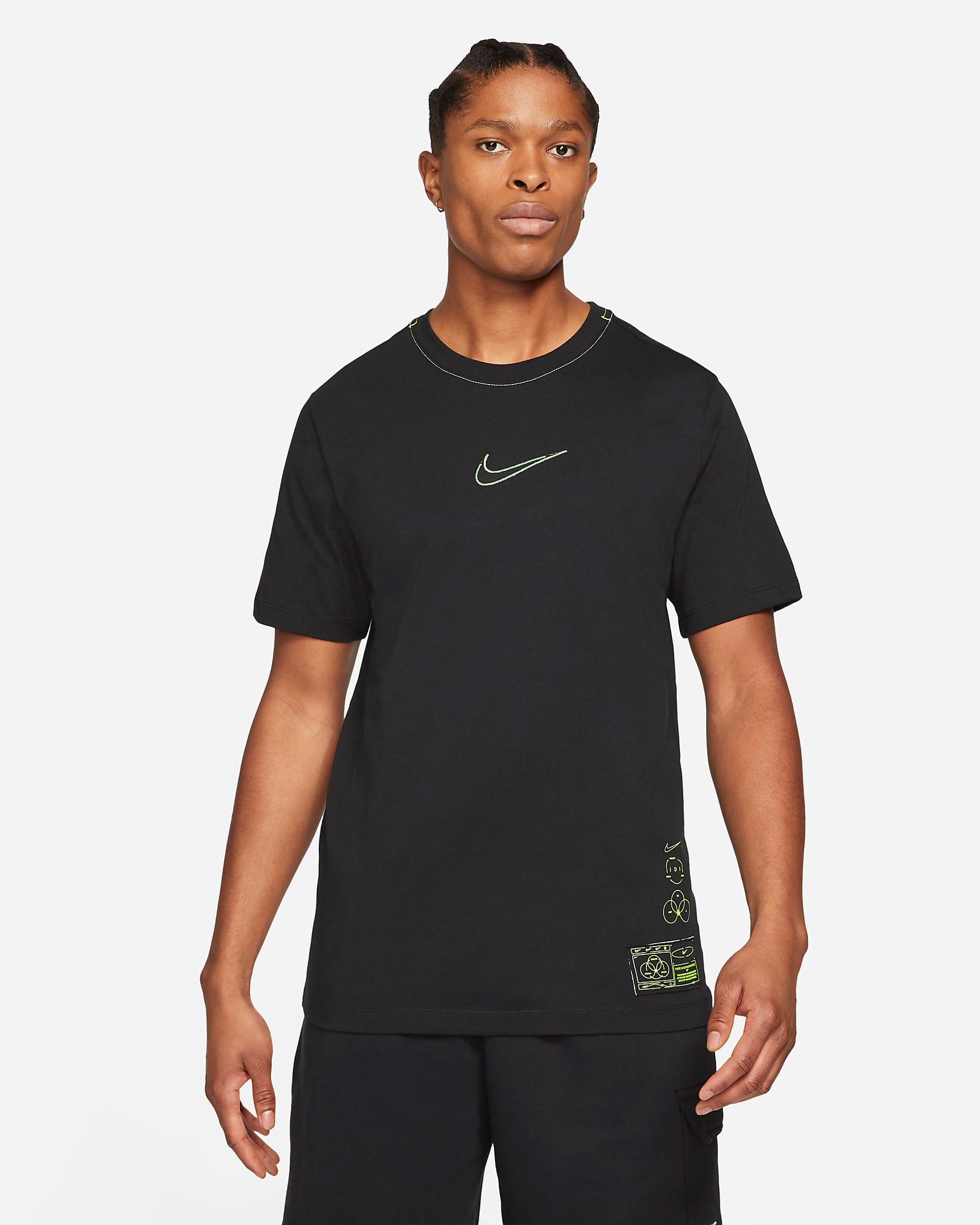 nike-club-t-shirt-black-volt-1