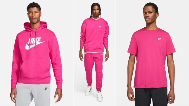 nike-sportswear-fireberry-pink-shirts-clothing-sneaker-outfits