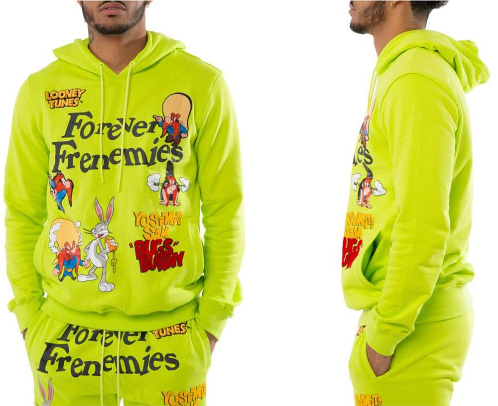 volt-foamposite-looney-tunes-hoodie-match
