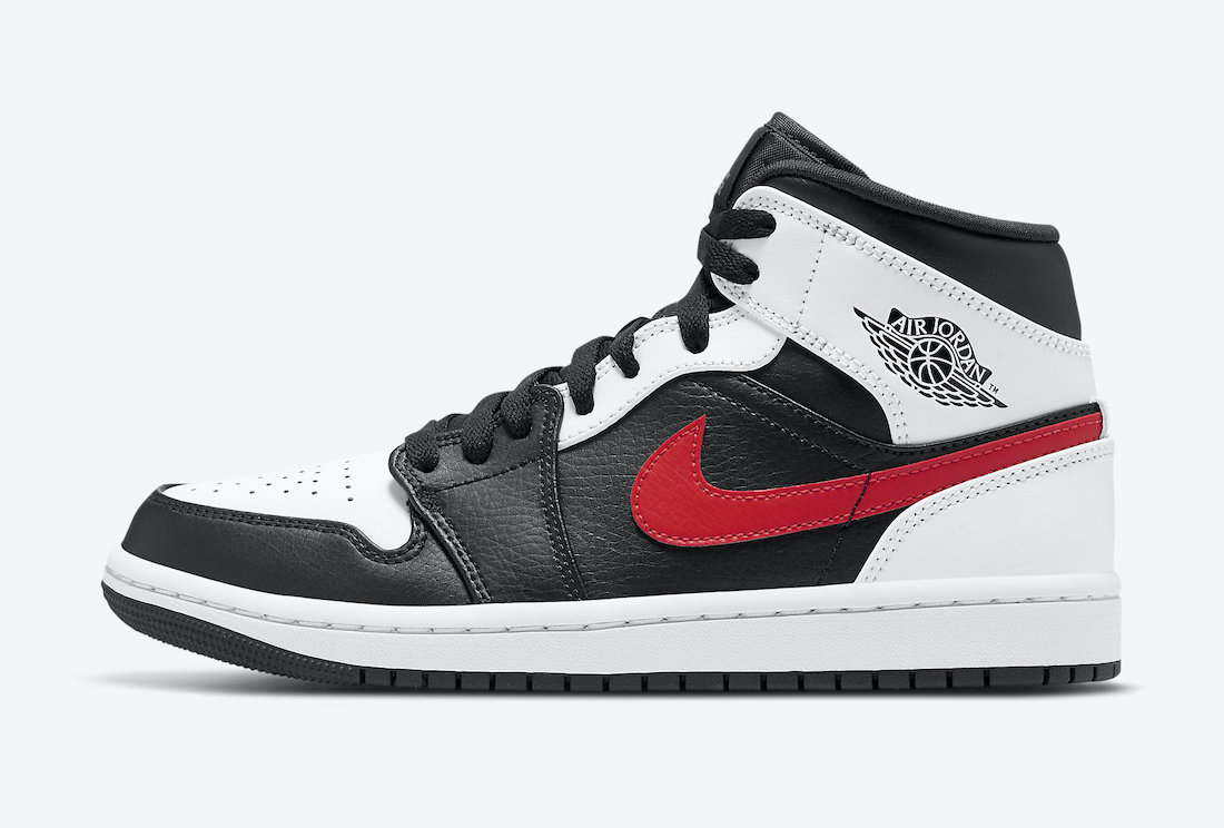 Air-Jordan-1-Mid-Black-Chile-Red-White-554724-075-Release-Date