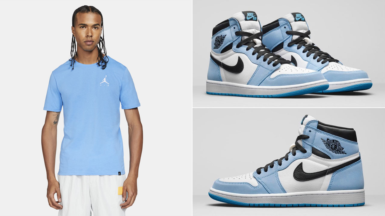 air-jordan-1-high-university-blue-jumpman-shirt