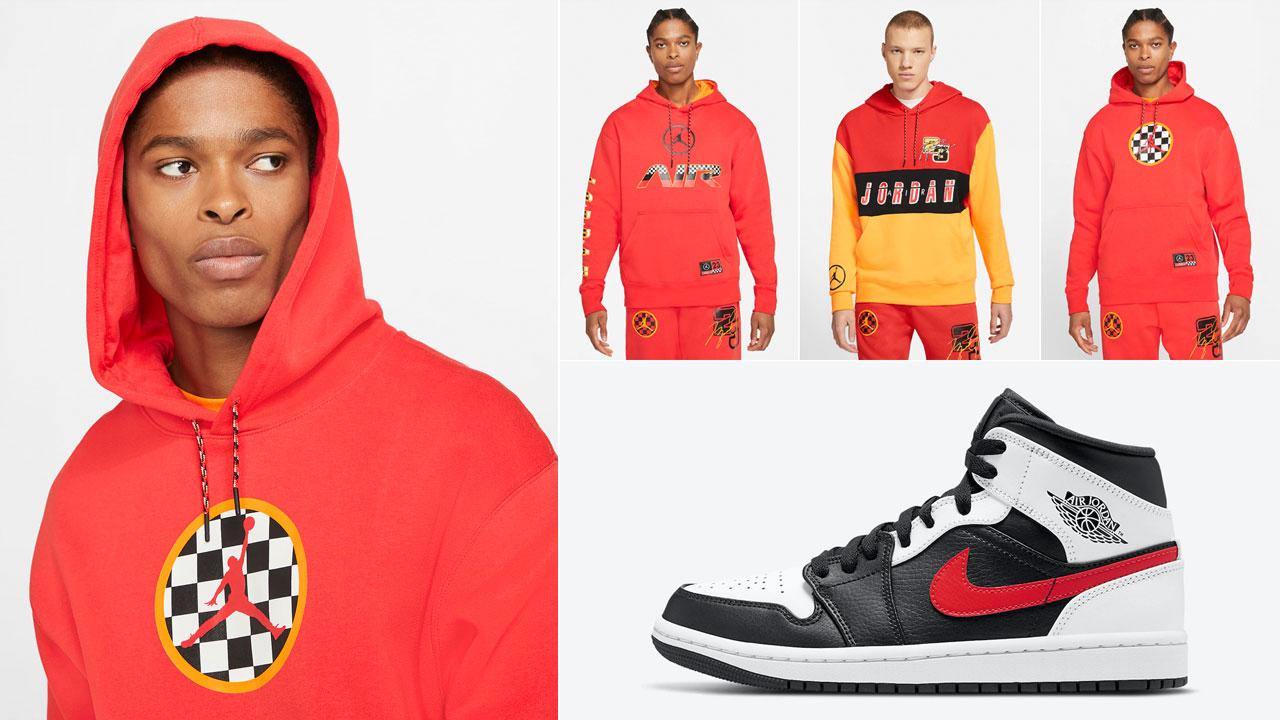 air-jordan-1-mid-black-white-chile-red-clothing