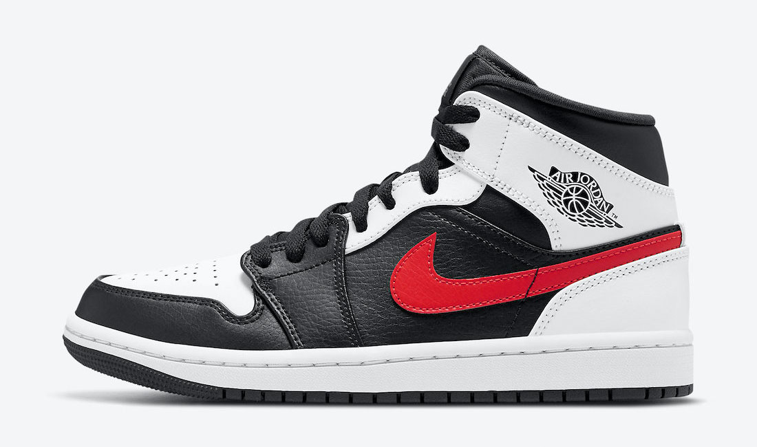 air-jordan-1-mid-black-white-chile-red-release-date
