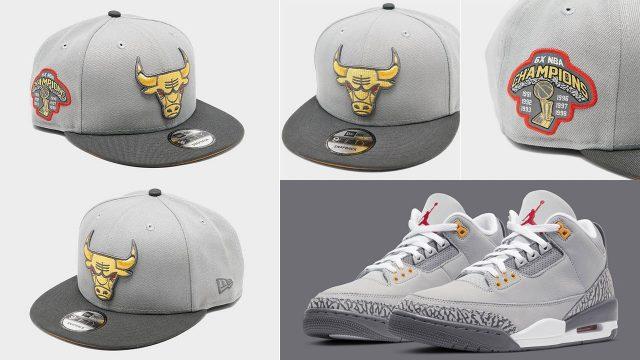 air-jordan-3-cool-grey-bulls-snapback-hat-new-era
