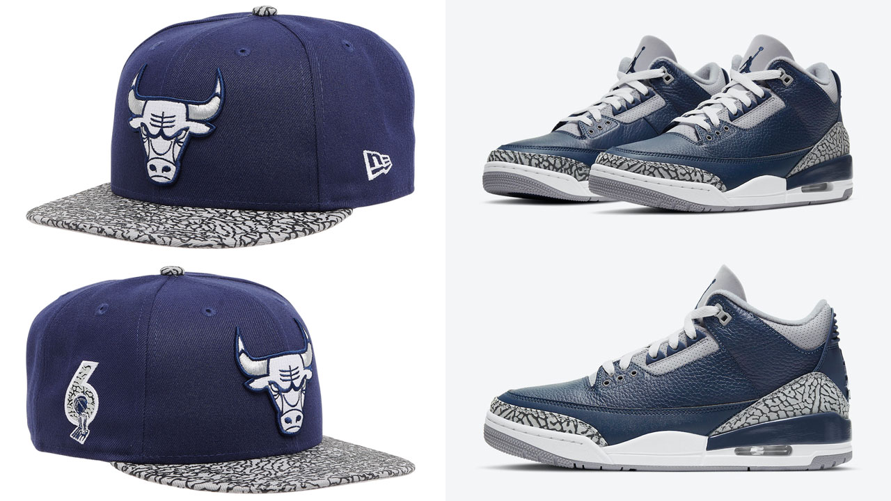air-jordan-3-georgetown-midnight-navy-bulls-snapback-hat