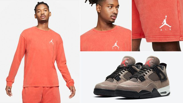 air-jordan-4-taupe-haze-infrared-clothing-match