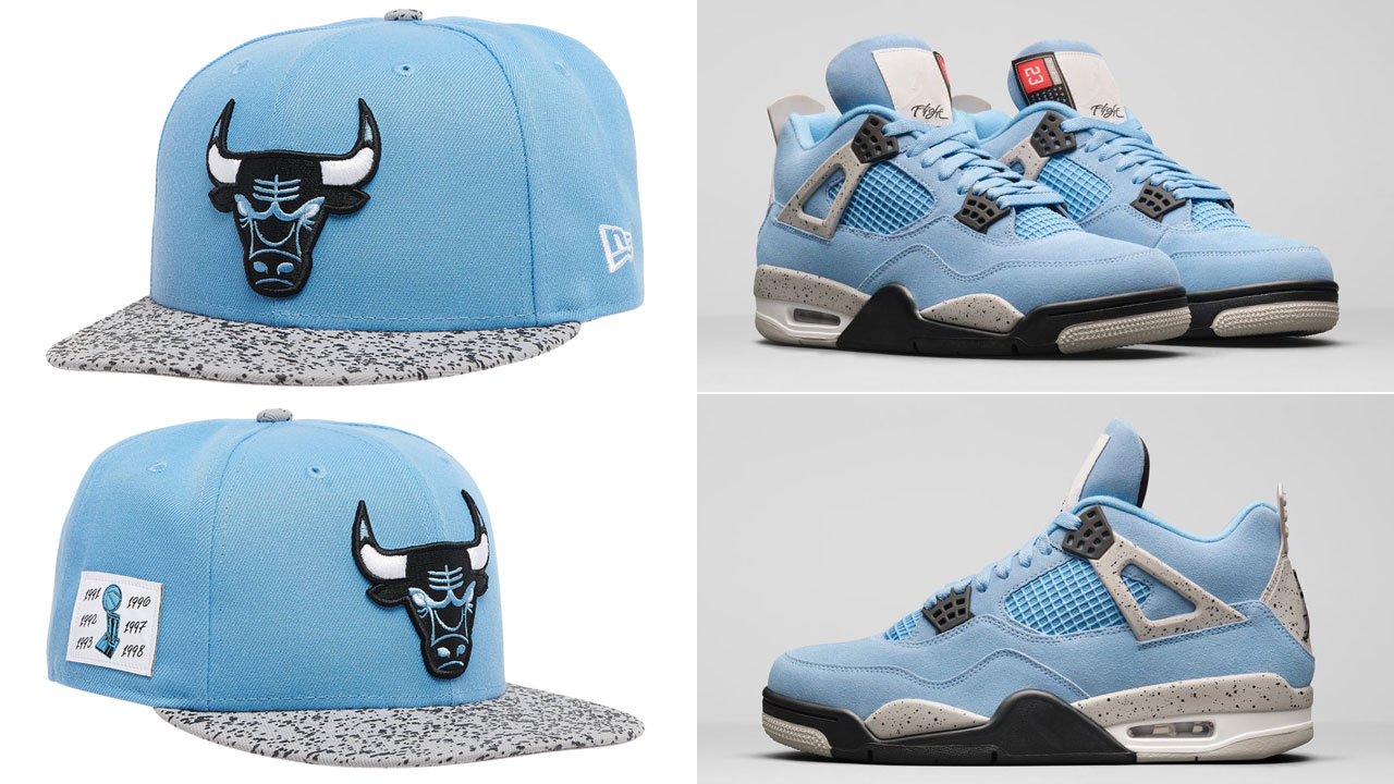 air-jordan-4-university-blue-new-era-bulls-hat
