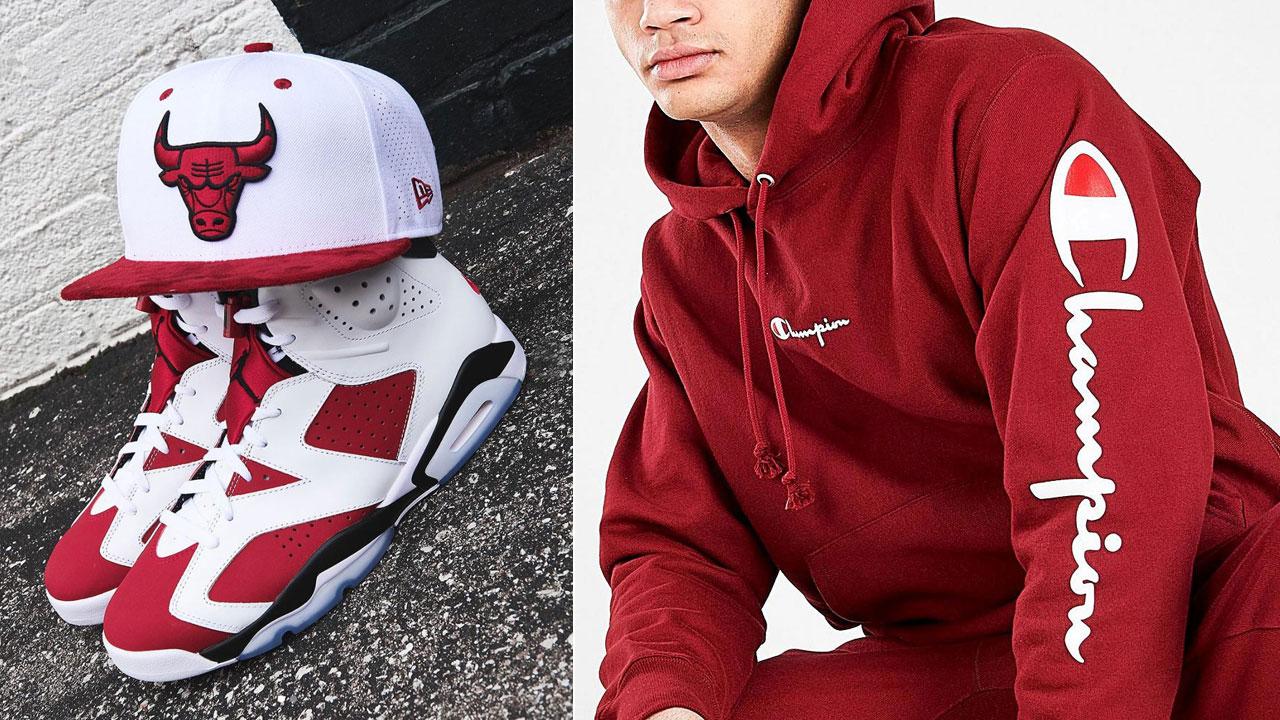 air-jordan-6-carmine-2021-outfit-hat-hoodie-pants