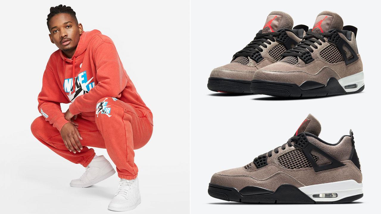 jordan-4-taupe-haze-infrared-apparel-match