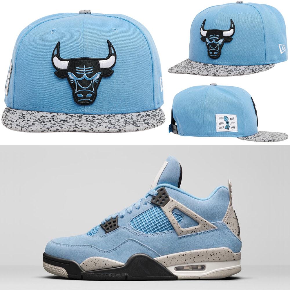 jordan-4-university-blue-bulls-snapback-cap
