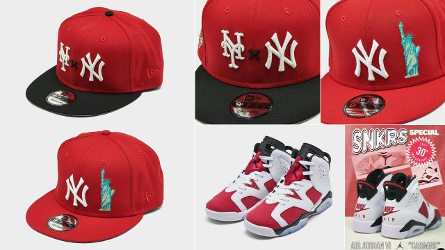 jordan-6-carmine-new-york-yankees-snapback-hats