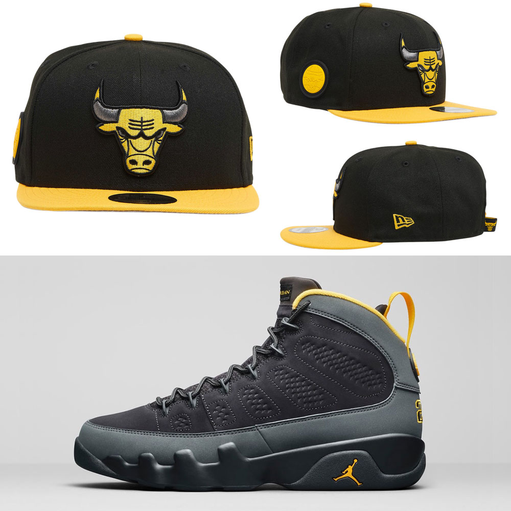 jordan-9-university-gold-bulls-new-era-snapback-hat