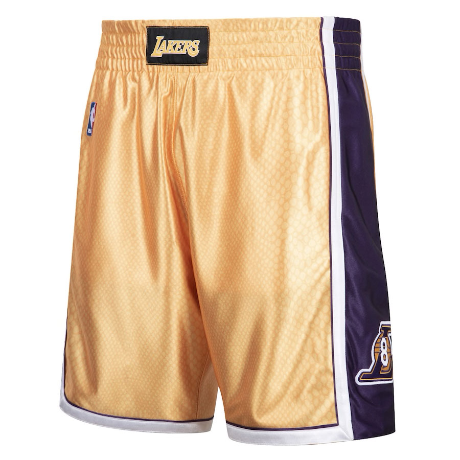 kobe-bryant-lakers-reversible-snakeskin-gold-number-8-shorts-front