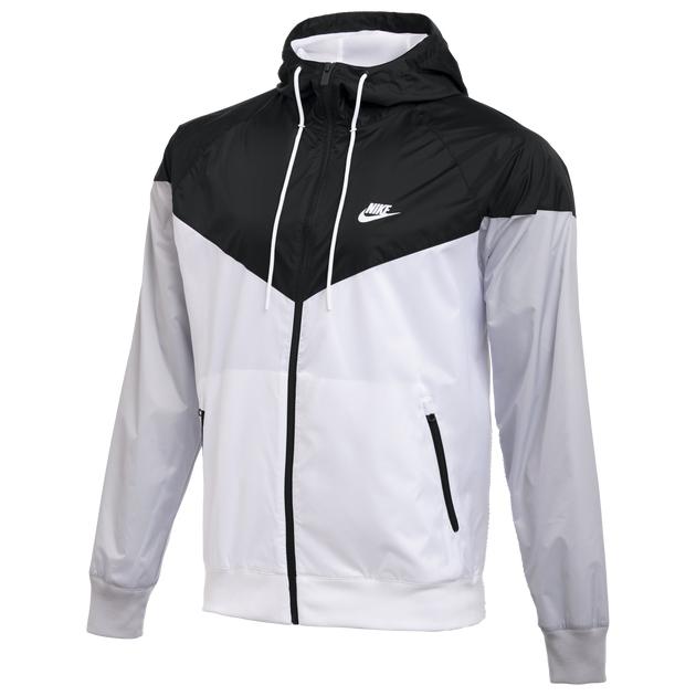 nike team windrunner jacket black white grey