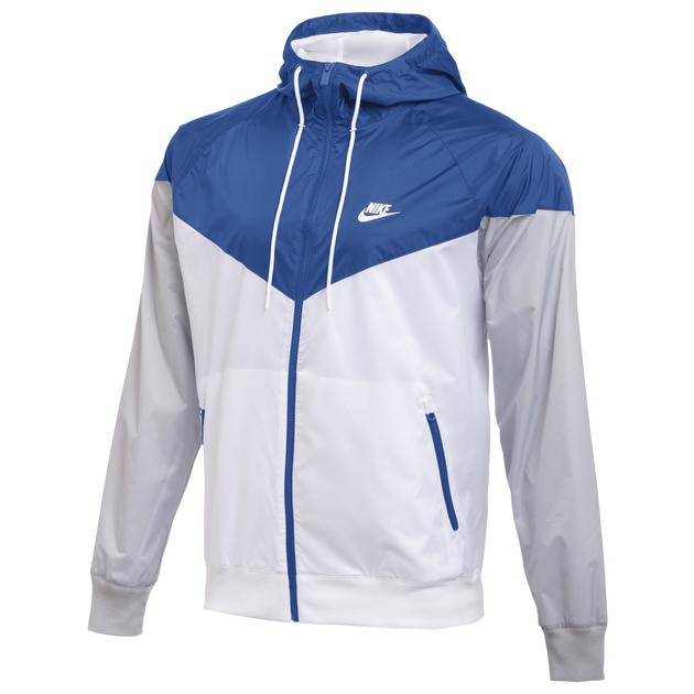 nike windrunner jacket white royal grey