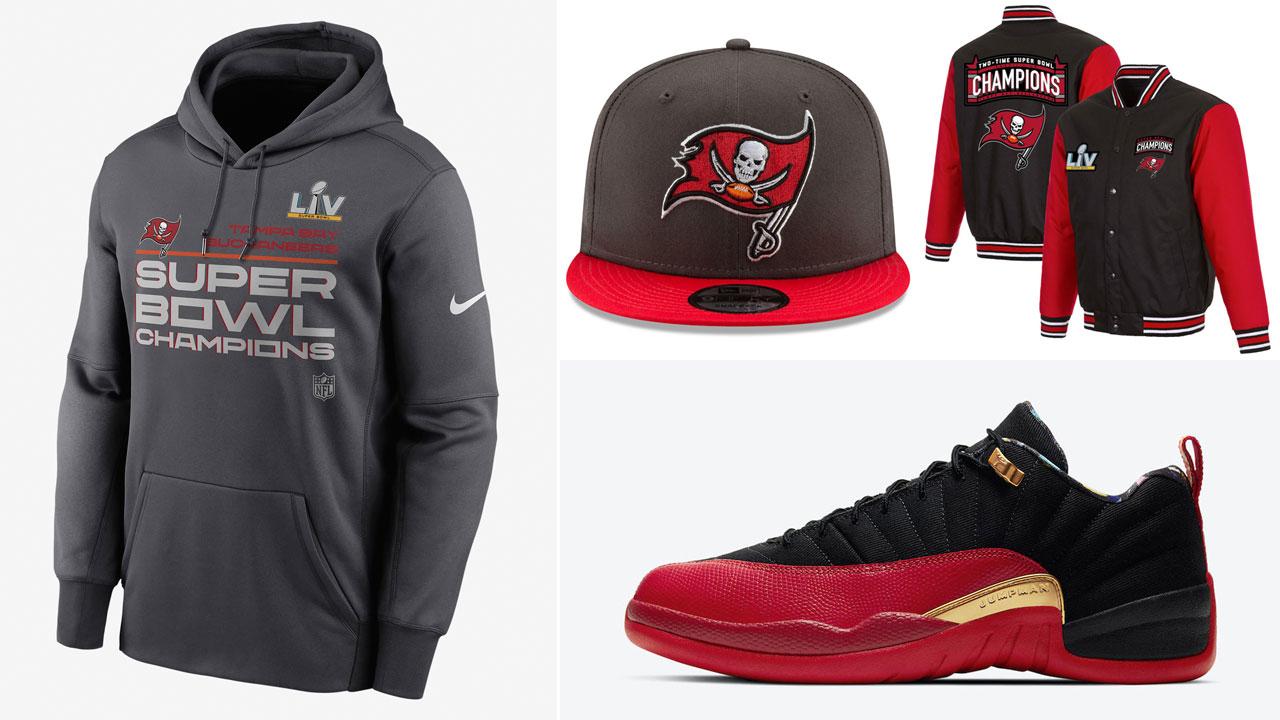 tampa-bay-buccaneers-jordan-12-low-super-bowl-champions-clothing-hats-shirts