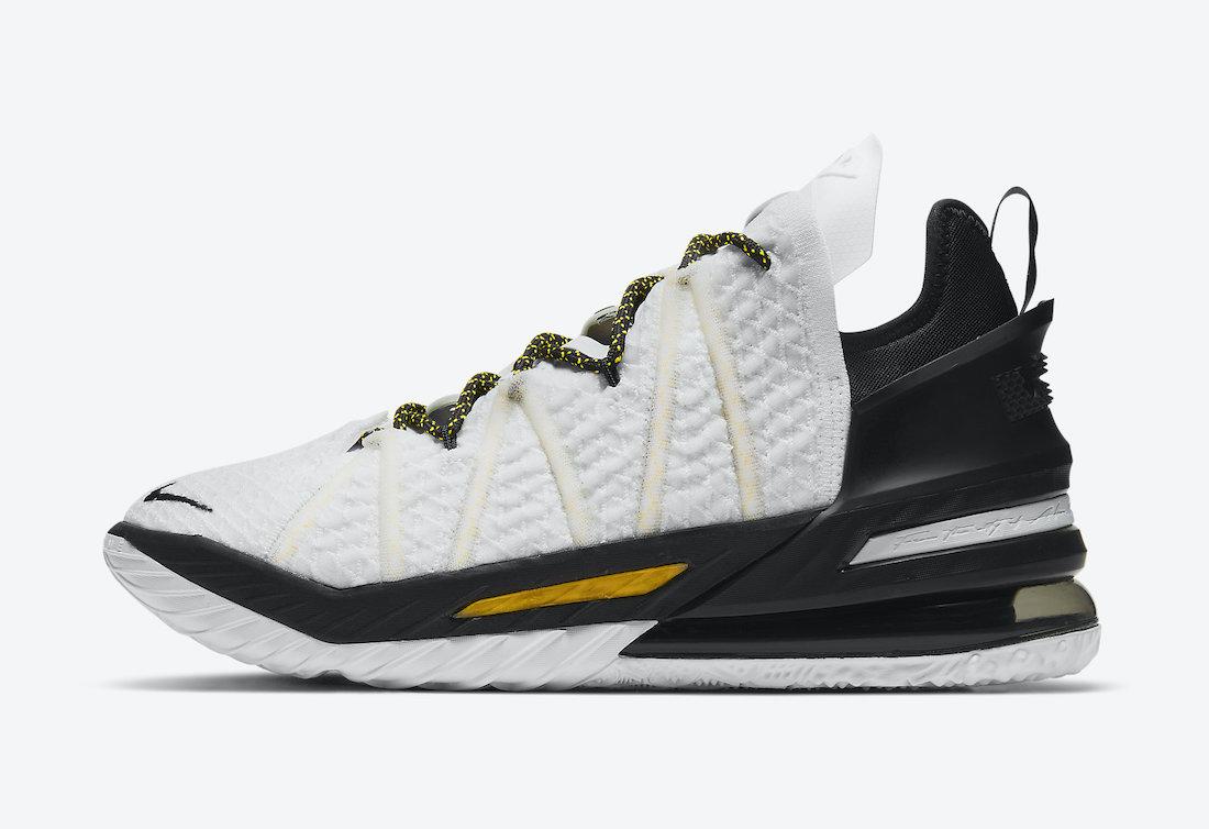 Nike-LeBron-18-Home-White-Amarillo-Black-CQ9283-100-Release-Date