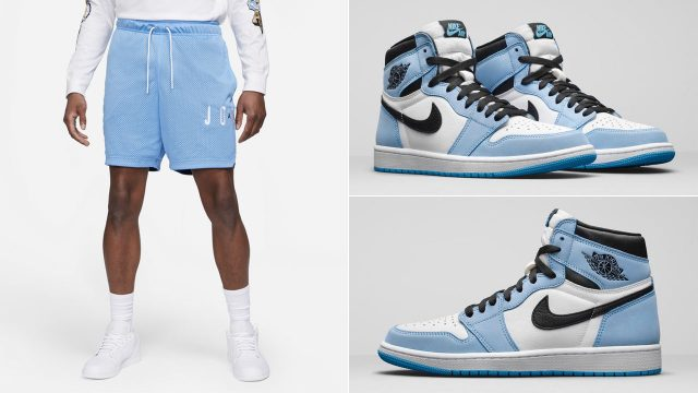 air-jordan-1-high-university-blue-shorts
