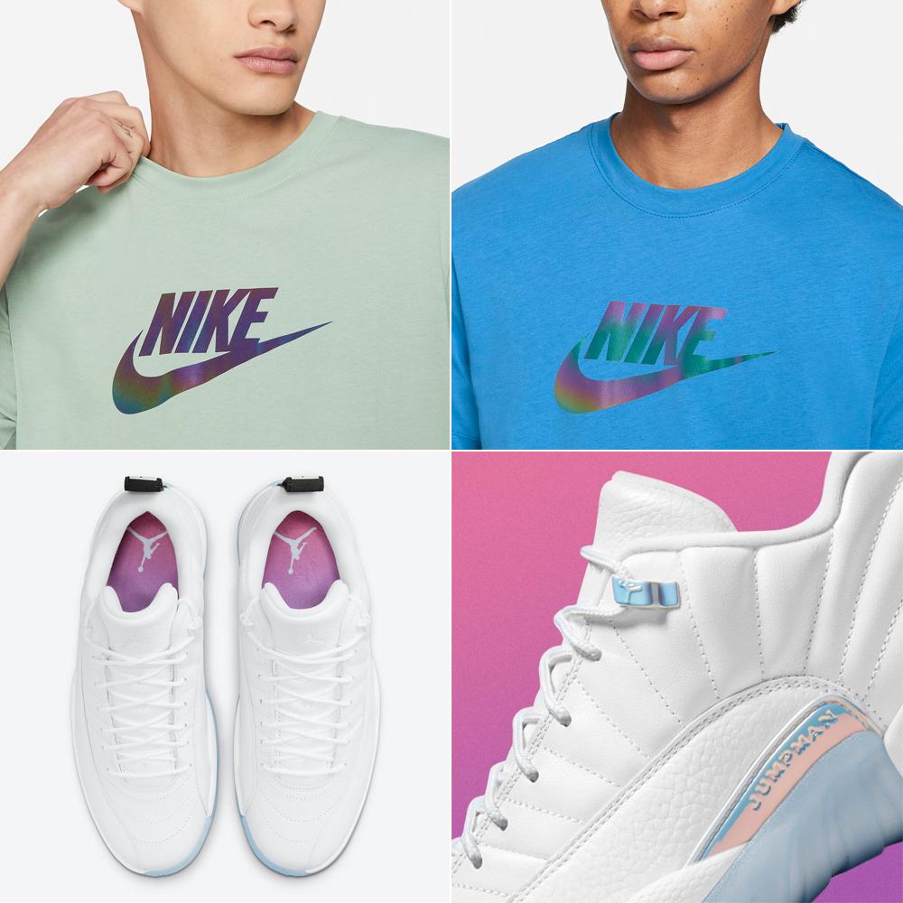 air-jordan-12-low-easter-iridescent-shirt