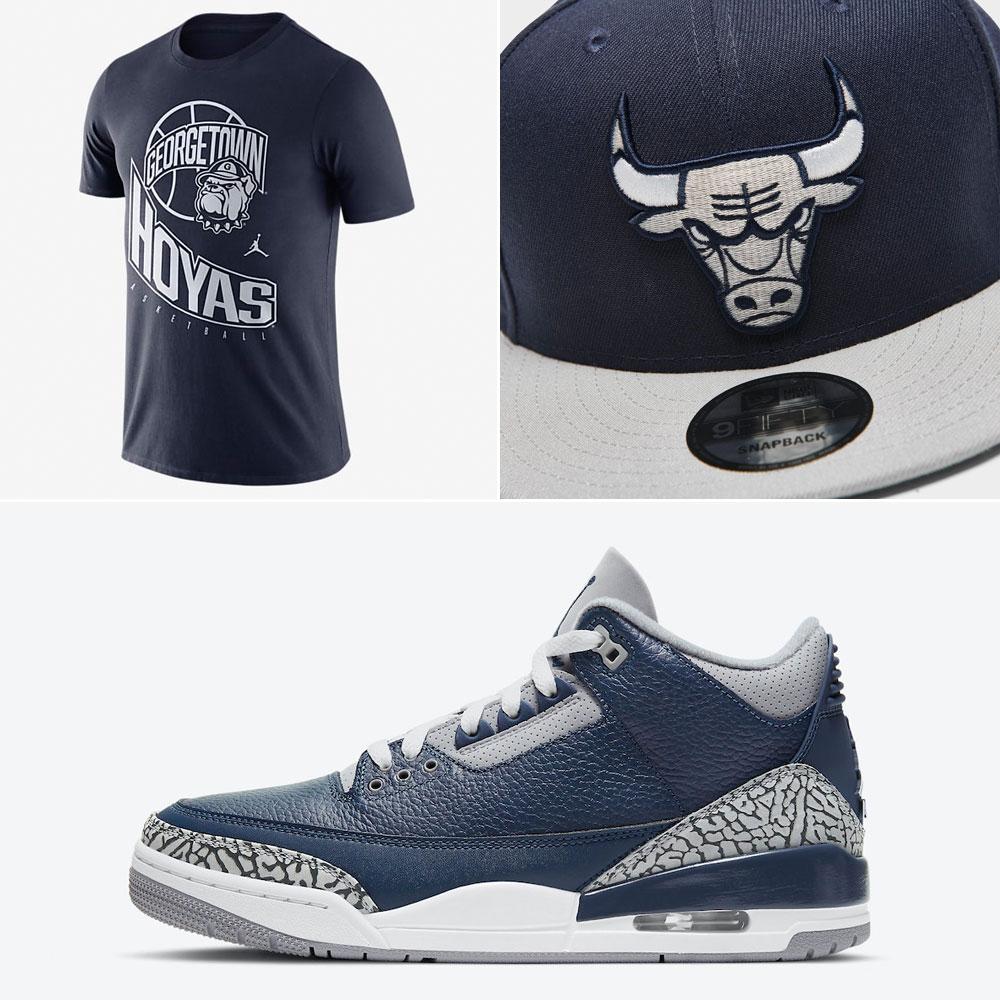 air-jordan-3-georgetown-shirt-hat-clothing-match
