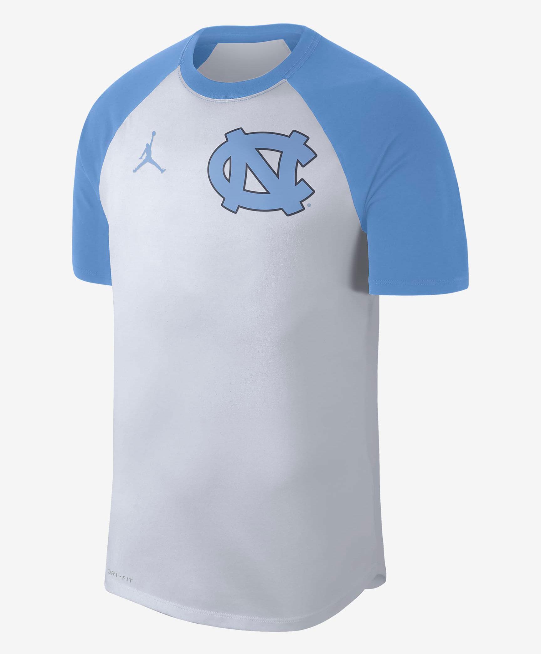 jordan-university-blue-unc-raglan-shirt