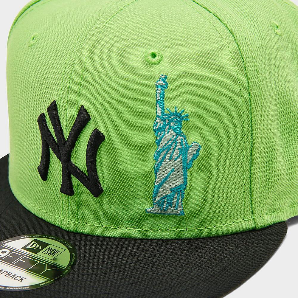 new-era-new-york-yankees-statue-snapback-hat-lime-green-black-3