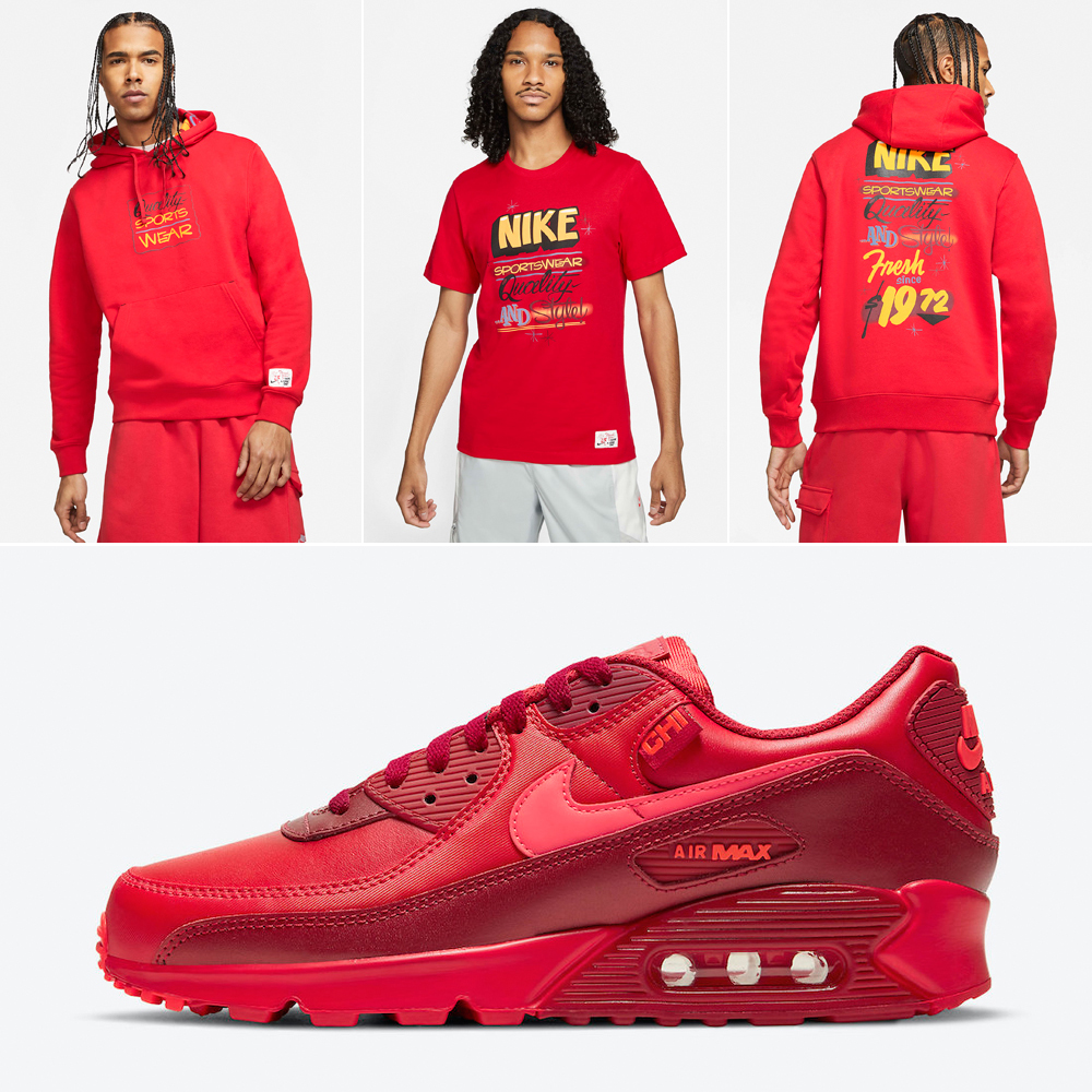 Nike Air Max 90 Chicago City Special Shirts Clothing Outfits