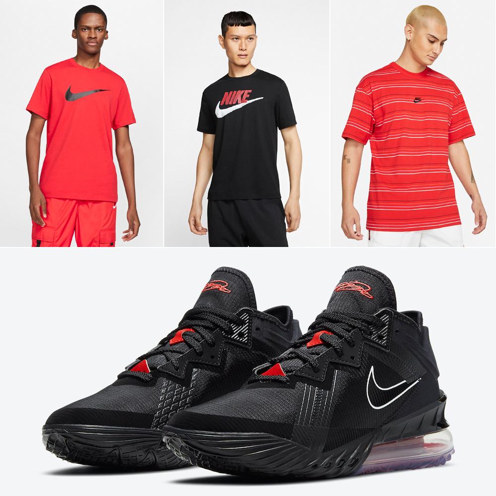 nike-lebron-18-low-bed-black-university-red-shirts