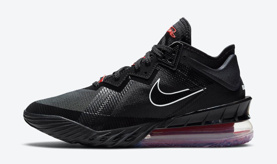 nike-lebron-18-low-bred-black-university-red-sneaker-clothing-match