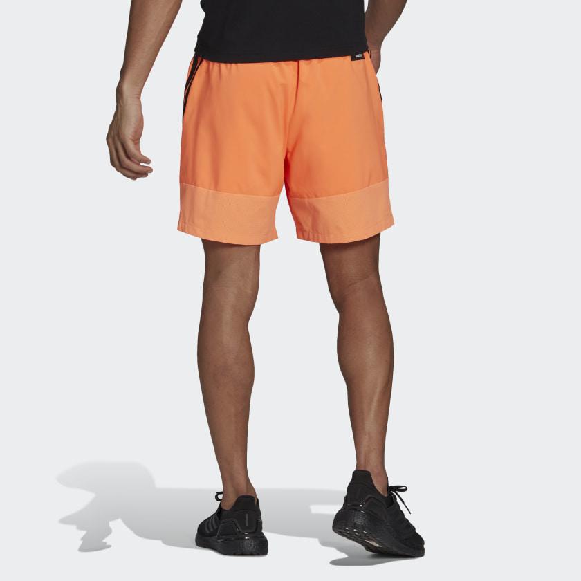 adidas Sportswear Woven 3 Stripes Shorts Orange GM6494 23 hover model