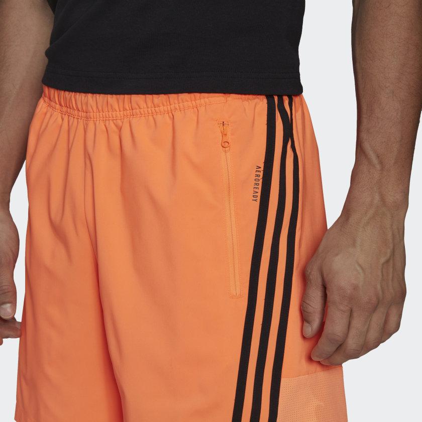adidas Sportswear Woven 3 Stripes Shorts Orange GM6494 42 detail