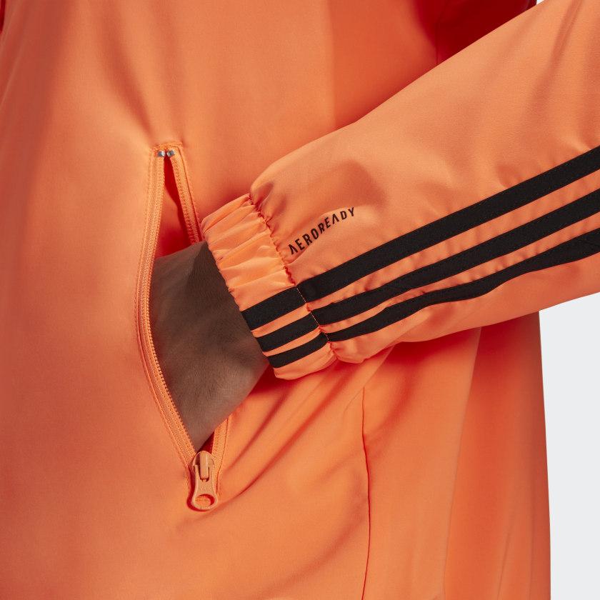 adidas Sportswear Woven 3 Stripes Track Top Orange GL5681 43 detail