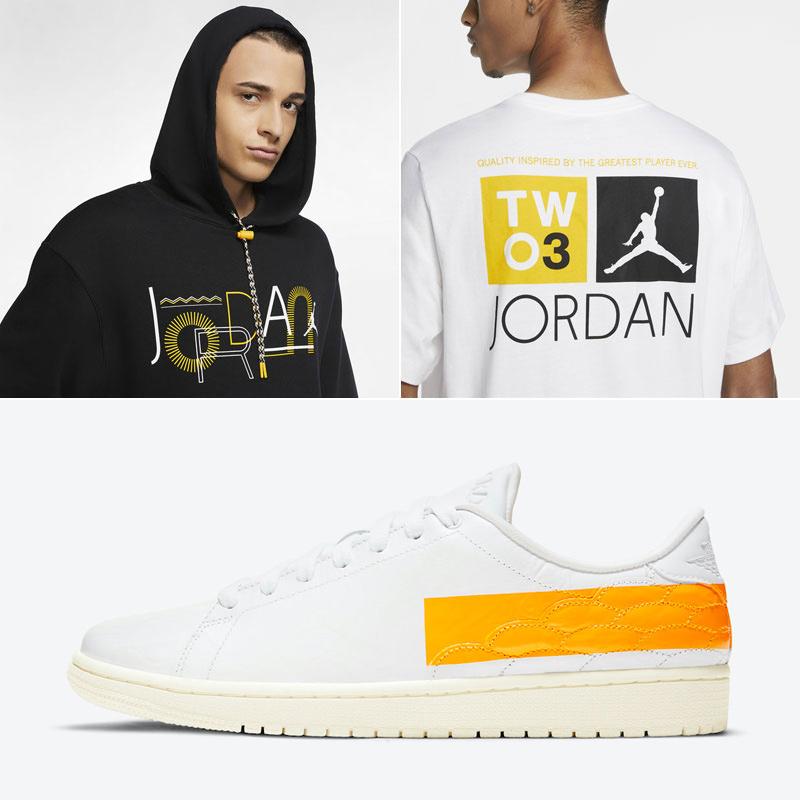 air-jordan-1-centre-court-university-gold-shirt-hoodie-match