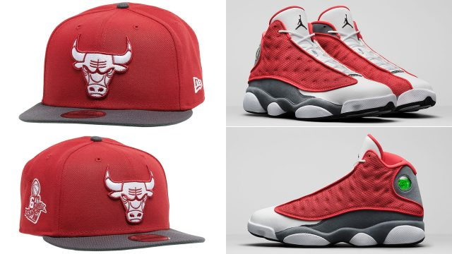 air-jordan-13-red-flint-bulls-new-era-hat