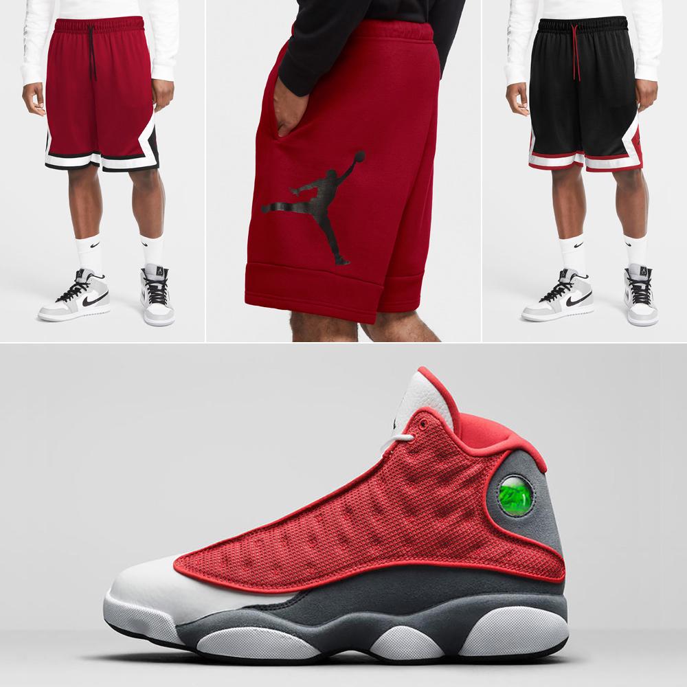 air-jordan-13-red-flint-shorts