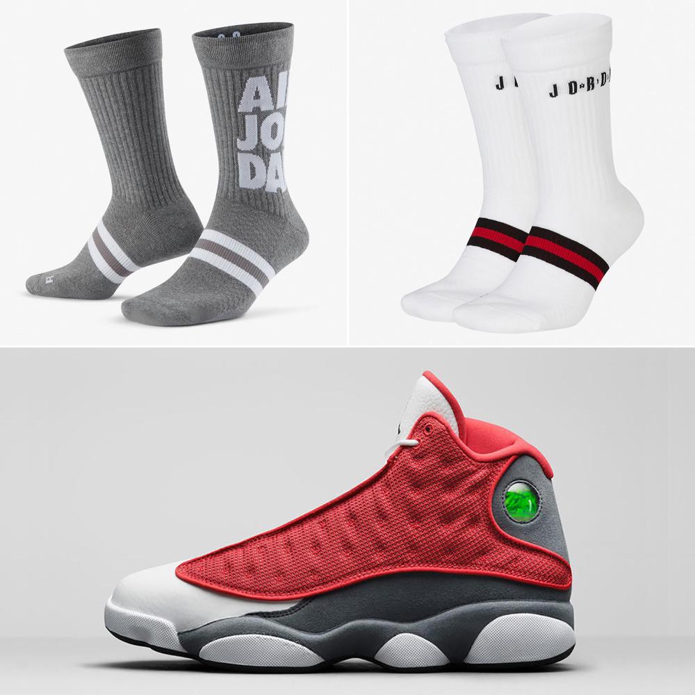 air-jordan-13-red-flint-socks