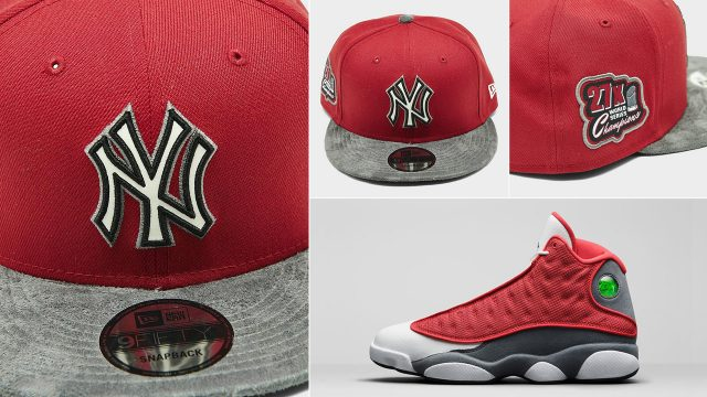 air-jordan-13-red-flint-yankees-cap