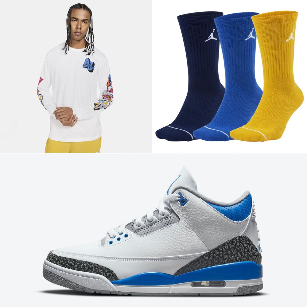 air-jordan-3-racer-blue-shirt-socks-outfit
