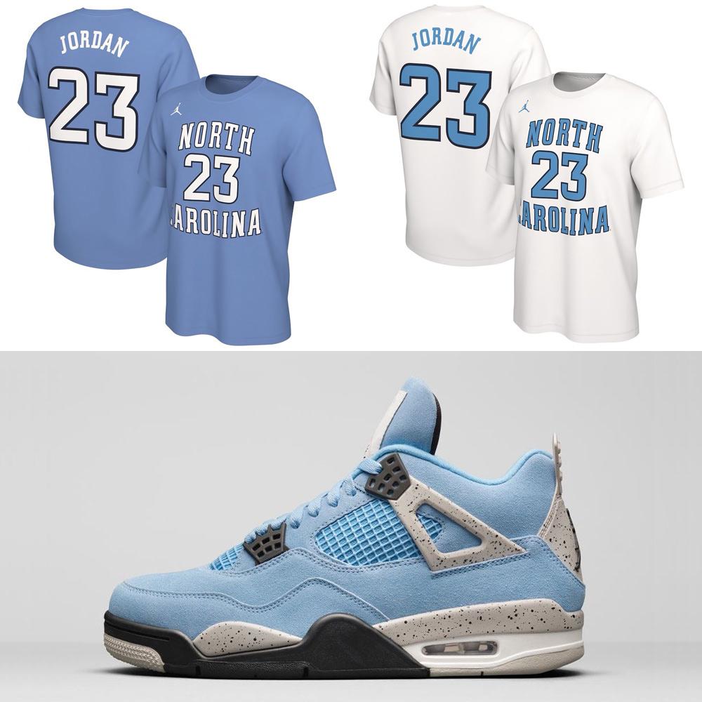air-jordan-4-unc-university-blue-michael-jordan-shirts