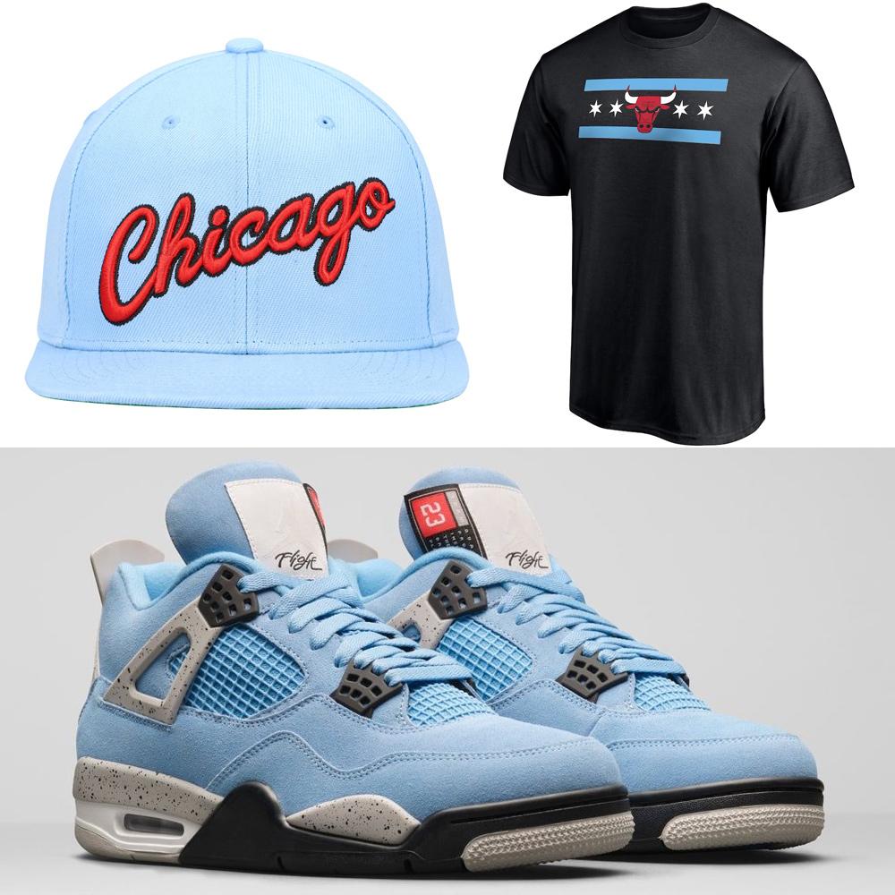 air-jordan-4-unc-university-blue-shirt-hat-outfit