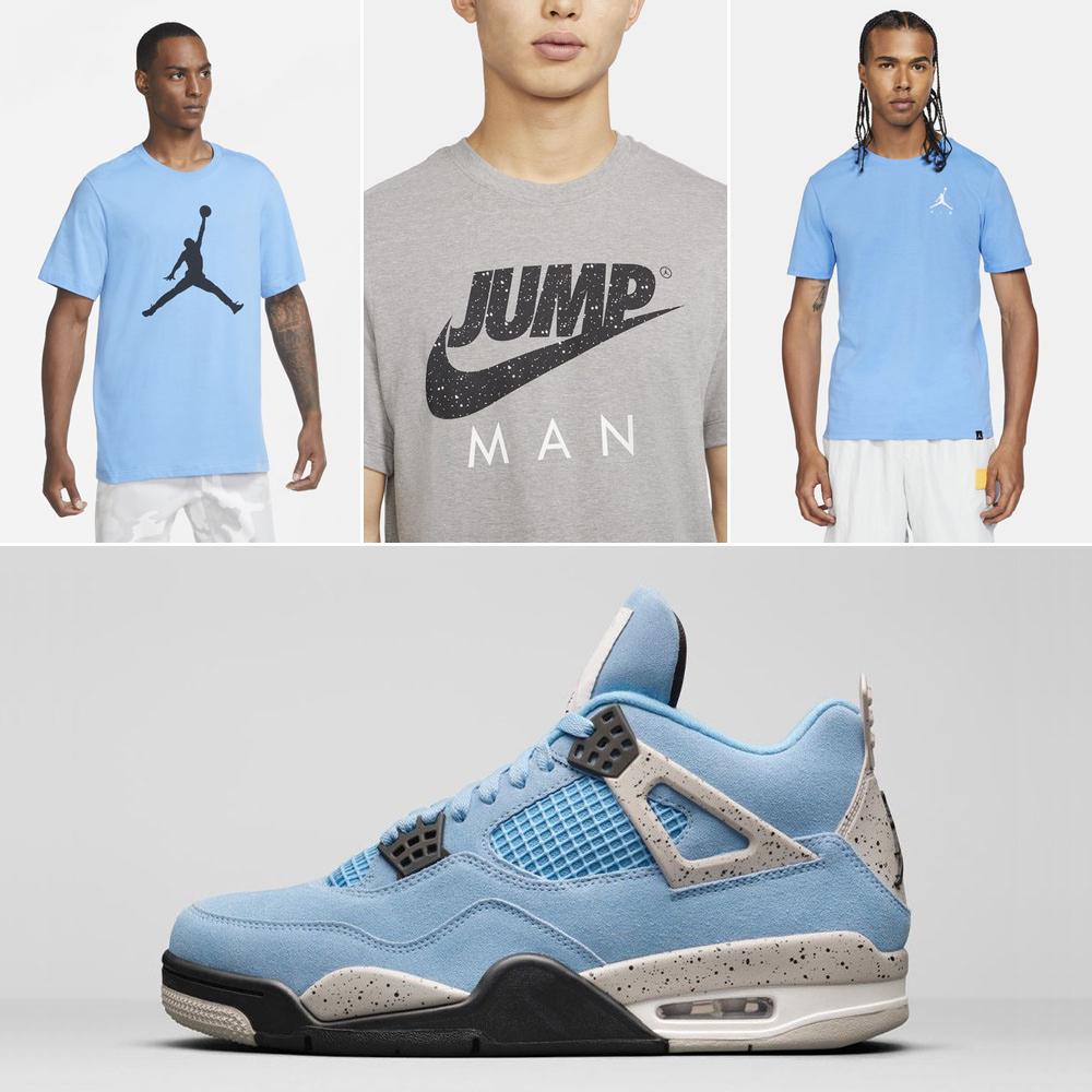 air-jordan-4-unc-university-blue-shirts