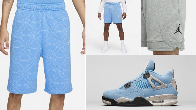 air-jordan-4-unc-university-blue-shorts-match