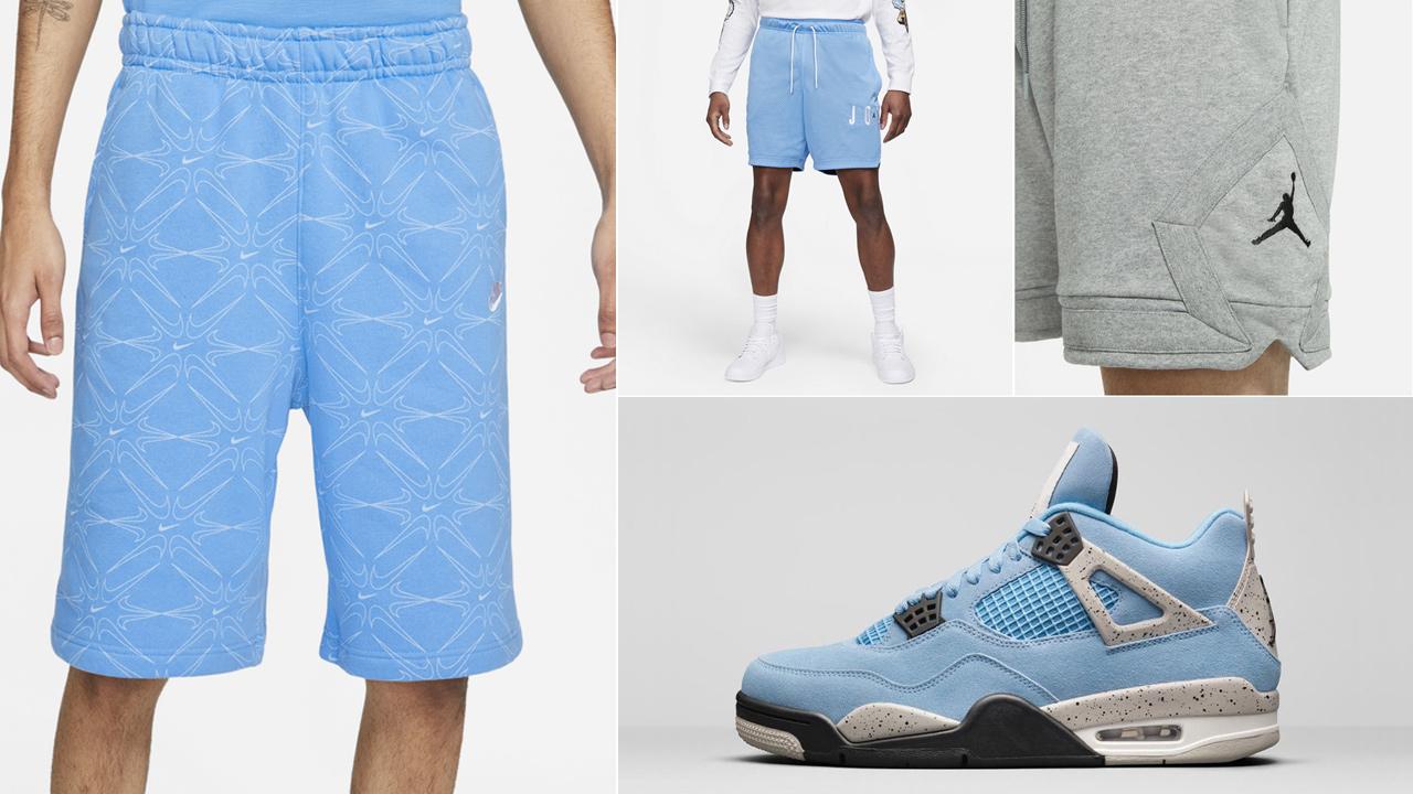 air-jordan-4-unc-university-blue-shorts-match