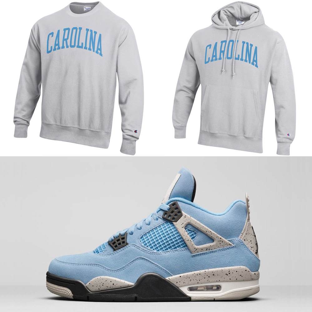 air-jordan-4-university-blue-unc-champion-shirt-hoodie-match