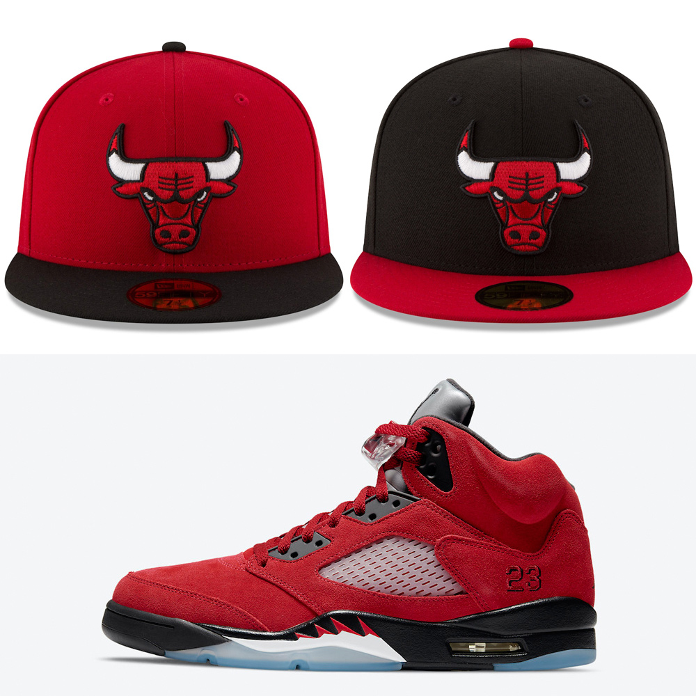 air-jordan-5-raging-bull-toro-2021-fitted-hats