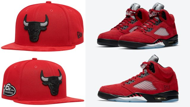 air-jordan-5-raging-bull-toro-bravo-2021-new-era-bulls-snapback-hat