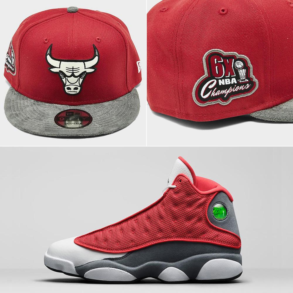 jordan-13-red-flint-hat